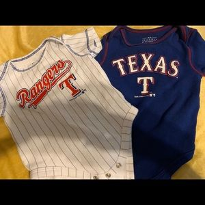 Other - 2 Texas Rangers Onesies 3-6 Months